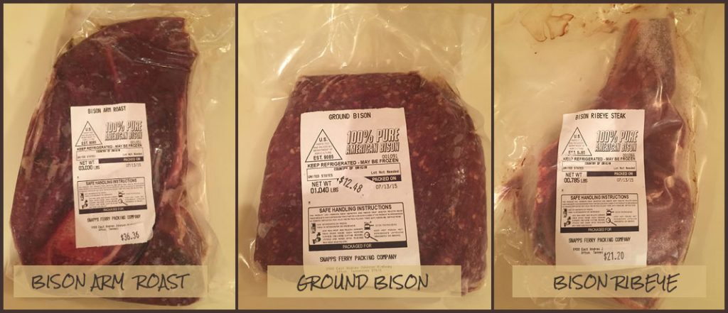 Bison Meat Cuts Trinity Bison Ranch
